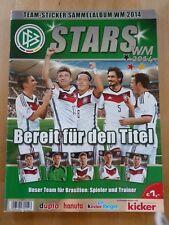 Ferrero Stars WM 2014 Album - kicker - duplo hanuta - KOMPLETT - DFB