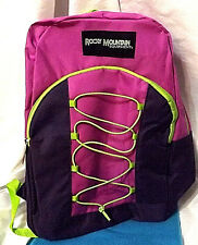 "Rocky Mountain Equipment 17""  Backpack Adjustable Straps Purple Pink Green"
