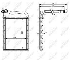 Wärmetauscher, Innenraumheizung NRF 54339 für HYUNDAI