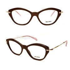 933d92964450 Miu Miu VMU 02O DHO-101 Brown Gold 52/17/140 Eyeglasses Rx