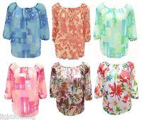 Womens Kaftan Tunic Top Blue Green Pink Plus Size 16,18,20,22,24,26 Ladies