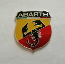 FIAT ABARTH 3D METAL BADGE LOGO EMBLEM STICKER GRAPHIC DECAL 500 595 124 SPIDER