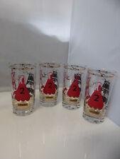 Set of 4 Vintage Us Coast Guard Glasses