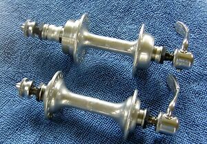CAMPAGNOLO NUOVO TIPO LOW FLANGE HUBS 36 HOLES ENGLISH FREEWHEEL THREAD 128 MM