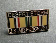 Desert Storm Air Force Veteran Vet USAF United States Lapel Pin Badge 1 inch