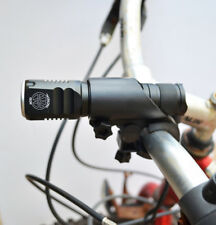 Compact LED Bicycle headlight Bike flashlight Battery, Charger, Mount, Gift Case