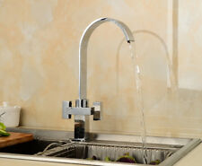 Brass Mixer Water Tap Basin Kitchen Wash Chrome Basin Faucet With Hose UK Stock