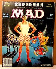 """rare mensuel BD """" MAD """" français n°2 - 1981"""