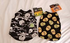 PET HALLOWEEEN COSTUMES.    2 OUTFITS SKULLS