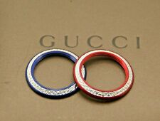 New Gucci Diamond Cut Bezels - Red and Blue - Sold Individually and as a Set