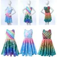 Girls Princess Cosplay Dress Toddlers Halloween Party Shiny Sundress Casual Wear