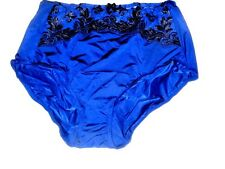 SOMA LIMITED EDITION Blue Sensuous Lace Retro Brief Panty L Large-Sealed Bag