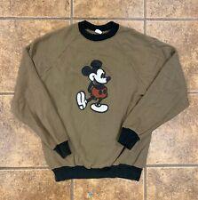 New listing Vintage 70s Mickey Mouse Walt Disney Brown Raglan Sweatshirt Large Ringer Crew