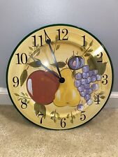 "Sterling and Noble 12"" Indoor Analog Wall Clock with Vintage Design"