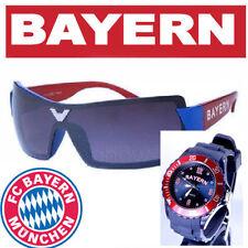Bayern Armbanduhr + Bayern Sonnenbrille + FC Bayern München Bierdeckel  ( W1 )