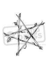 A7 'Pentagram Of Sticks' Unmounted Rubber Stamp (SP00001548)
