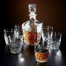 Decanter Whiskey Set of 6 Glasses 260 ml Bottle 800 ml Jim Liquor Stopper Clear
