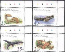 Angola 2002 Snakes/Lizard/Crocodile/Reptiles/Animals/Nature/Wildlife 4v (s2334)