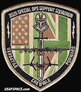 USAF 352D SPECIAL OPERATIONS SUPPORT SQ- RAF Mildenhall, UK - ORIGINAL VEL PATCH