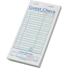 """Adams Guest Checks with Stub, 3-3/8"""" x 7"""", 20 ct (Sa540A) 50 pages per book"""