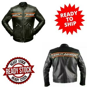 WWE Goldberg Bill Classic Men's Harley Davidson Black Leather Motorcycle Jacket
