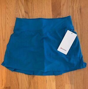 "NWT Lululemon Pace Rival Mid Rise Skirt Tall 15"" size 4,6 Hawaiian Blue"