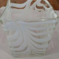 Murano Art Style Hand Blown Glass Vase