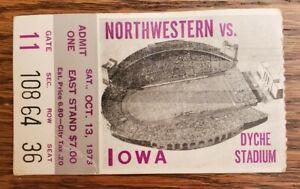 Northwestern Wildcats Iowa Hawkeyes Football Ticket Stub 10/13 1973 M. Anderson