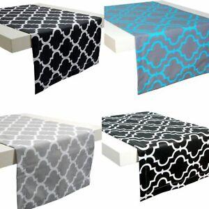 Tischläufer Tischdecke Mitteldecke Tischband Deko Marokko Schwarz Weiß Grau Blau