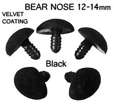 Teddy Bear Plastic Safety Nose For Doll Soft Toy Making Crafts 12 x 14 mm ( x 5)