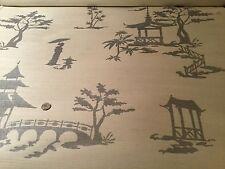 "8yd PHILLIP JEFFRIES ""Chinois Our Way"" Silver Ivory Manila Hemp Wallpaper #5660"