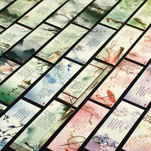 Pack of 30 bookmarks Japanese paintings, scenery, temples, princesses #0077