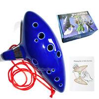 Legend of Zelda 12 Hole Ocarina of Time Alto C Flute Ceramic Instrument&Gift Box