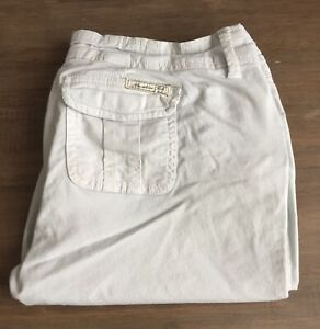 Abercrombie And Fitch Womens White Shorts - UK Size 8, Vintage