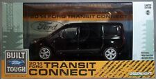 GREENLIGHT DIECAST METAL 1:43 SCALE BLACK FORD 2014 TRANSIT CONNECT ENCLOSED VAN