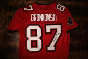 Rob Gronkowski Gronk Signed Tampa Bay Buccaneers Jersey Large