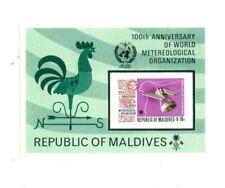 Vintage Classics - Maldives Sc# 471 - 100th Ann of W.M.O - Imperf S/S - Mnh
