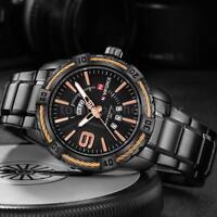NAVIFORCE Fashion Causal Men Watches Quartz Waterproof Luminous Wristwatch