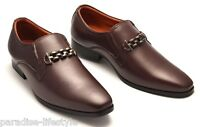 Mens Slip-on Leather Shoes Buckle Formal Evening Dress Party Smart Size New Boot