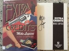 """Mike Lupica SIGNED 1988 """"Extra Credits""""  1st Ed  HC/DJ  Mystery  Reporter"""