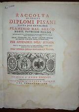 DIPLOMI PISANI -  ediz. 1765 - PISA - FOGLI CHIUSI