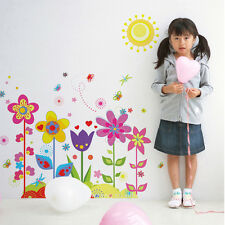 Flower Butterfly Wall Border Decal Removable Windows Sticker DIY Kids Room Decor