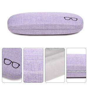 Portable Eyewear Case Sunglasses Box Hard Shell Linen Eye Glasses Protector