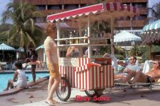 #AP e Amateur 35mm Slide-Photo- Woman at Cookie Cart- Street Scene -1971