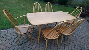 An Ercol Windsor Plank Dining Table