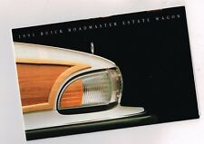 1991 BUICK ROADMASTER ESTATE Station Wagon Brochure / Poster