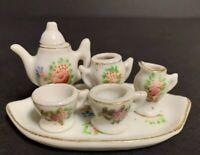 7-piece Vtg Miniature Child's Doll Porcelain Tea Set~PICO Occupied Japan~Floral