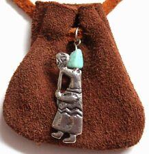 Native Am design Medicine Bag - spirit carrying torch (rust)