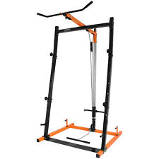 Mirafit Barbell Squat Power Rack Lat Pull Down Station Multi Gym Cage/Stand