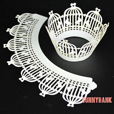 12 PCS Birdcage Muffin Cupcake Cases Wrappers Liner Wraps Party Wedding Decor